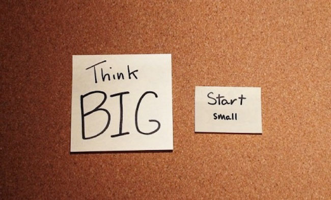 Think Big, Start Small, Fail Quickly and Scale Fast